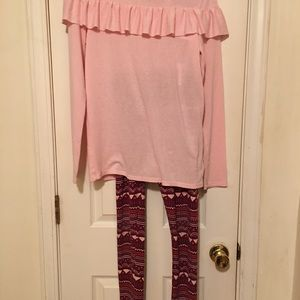 Girls outfit Cat & Jack 14/16 leggings shirt XL